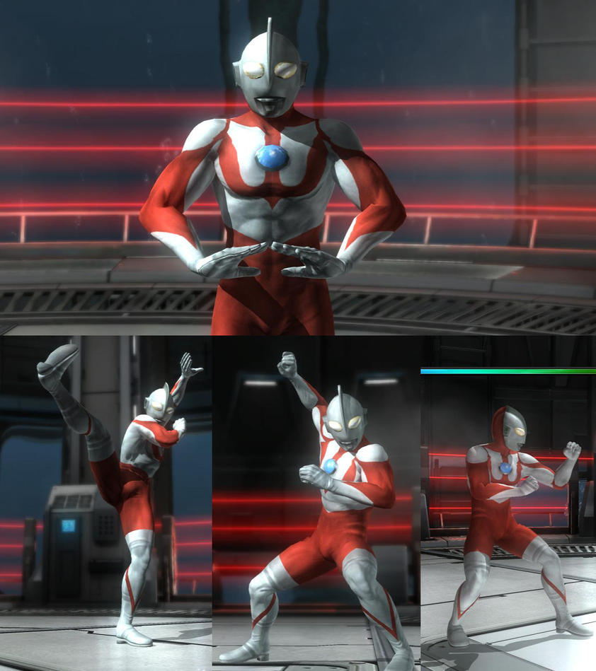 DOA5LR Akira as Ultraman by monkeygigabuster