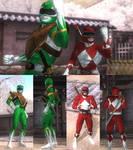 DOA5LR Mighty Morphin Power Rangers Mod Pack