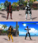DOA5LR Deadpool x4  Mod Pack