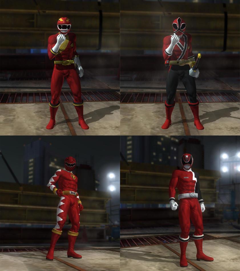 DOA5LR Super Sentai Red Ranger mod pack by monkeygigabuster