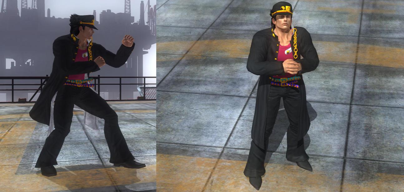 DOA5LR Akira as Jotaro Kujo by monkeygigabuster