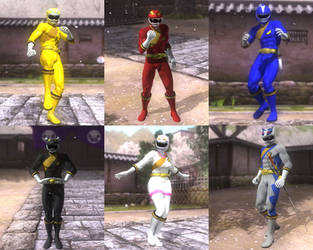 DOA5LR Hyakujuu Sentai Gaoranger mod pack by monkeygigabuster