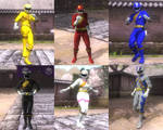 DOA5LR Hyakujuu Sentai Gaoranger mod pack