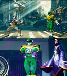 SFV Bison as Mighty Morphin Green Ranger