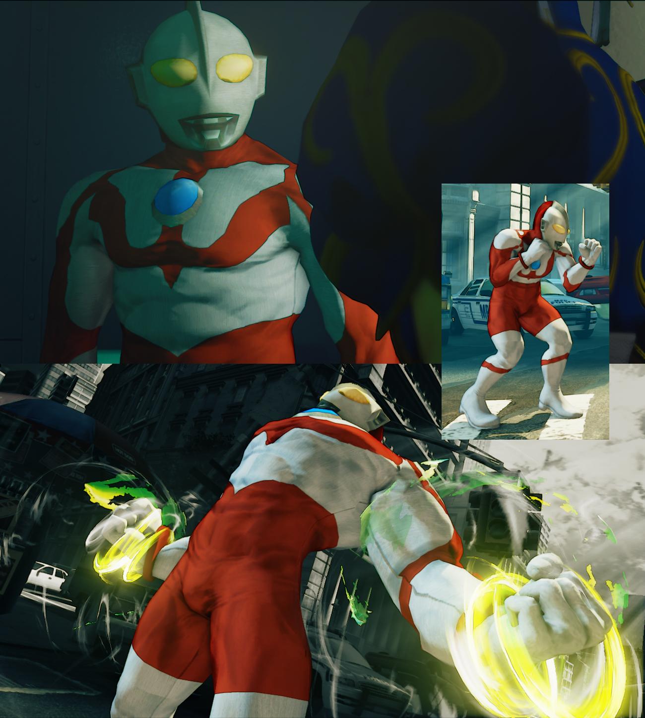 SFV Guile as Ultraman
