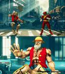 SFV Dhalsim cosplays Luffy