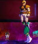 SFV Ryu as Mighty Morphin White Ranger