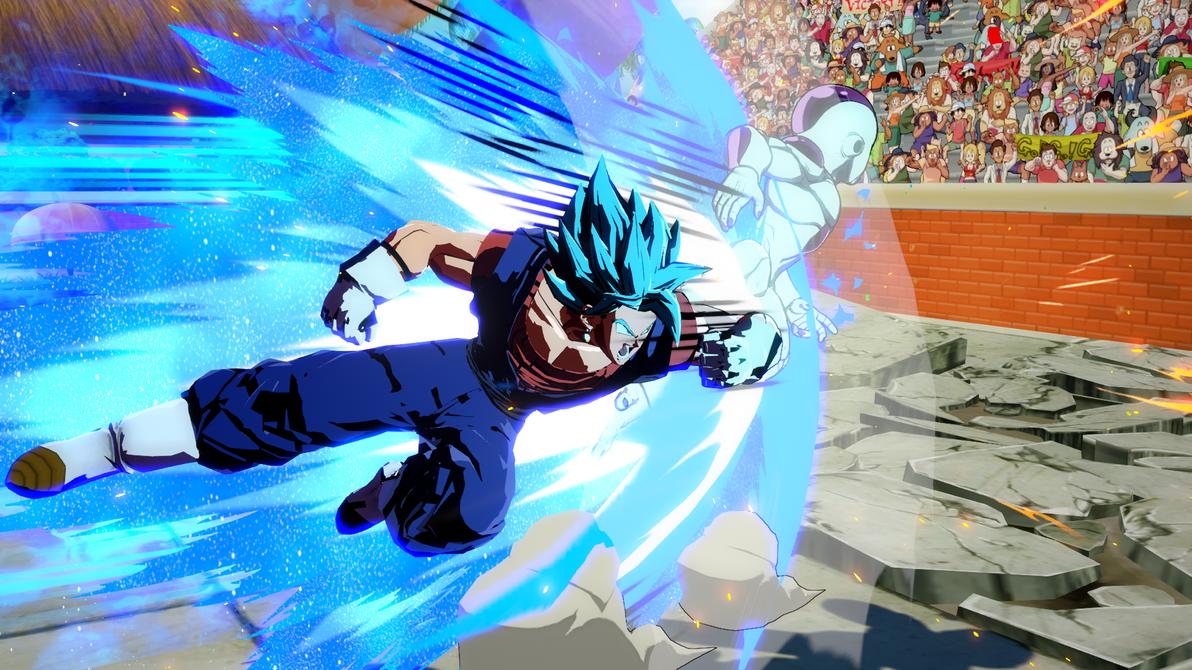 DBFZ mod Vegito costume for SSGSS Goku by monkeygigabuster