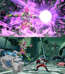 DBFZ Captain Ginyu as Kamen Rider Ex-Aid by monkeygigabuster