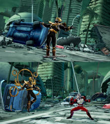 DBFZ Fused Zamasu as Kamen Rider Odin by monkeygigabuster