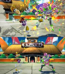 DBFZ Kid Buu as Rayman by monkeygigabuster