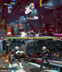 FEXL mod Skullomania as Kamen Rider Ichigo by monkeygigabuster