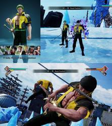 Jump Force mod Kaizoku Musou Zoro by monkeygigabuster