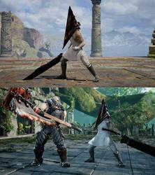 SCVI CAS mod Pyramid Head+Weapon by monkeygigabuster