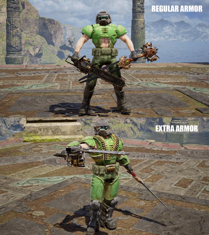 SCVI CAS mod Doom Slayer Armor+Weapon by monkeygigabuster