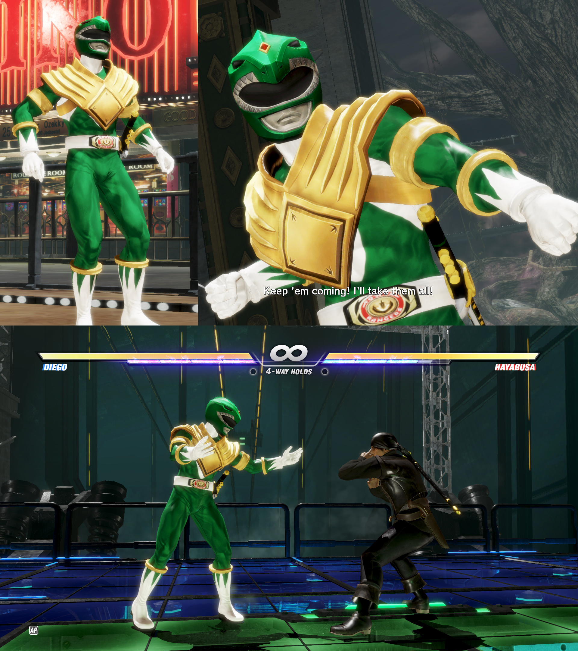 Dead or Alive 6 mod Diego  as Green Ranger