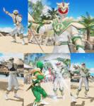 DOA6 mod Hayate as White Ranger/Lord Drakkon