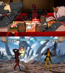 GBFV mod Lowain as Deadpool by monkeygigabuster