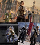 DFFNT mod FFXII Balthier outfit for Vaan