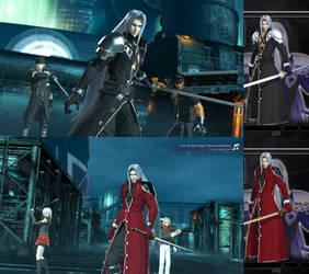 DFFNT mod Update for  FFVIIR Outfit for Sephiroth