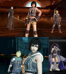 DFFNT mod FFVIIAC Yuffie outfit for  Tifa