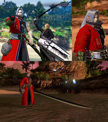 DFFNT mod FFX Auron outfit for Sephiroth