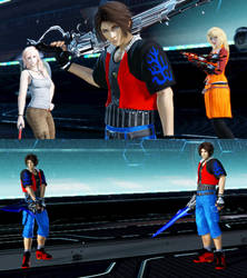 DFFNT mod FFVIII Zell Dincht outfit for Squall by monkeygigabuster