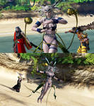 DFFNT mod Yunalesca outfit  for Cloud of Darkness by monkeygigabuster