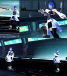 DFFNT mod KHIII Aqua Outfit for  Lightning by monkeygigabuster