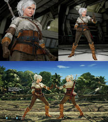Tekken 7 mod The Witcher 3 Ciri outfit for Lidia