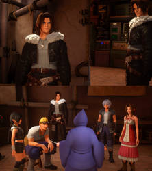 Kingdom Hearts III mod Squall's outfit for Leon