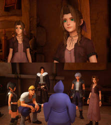 Kingdom Hearts III mod classic outfit for Aerith