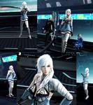 DFFNT mod Nier Kaine outfit for Lightning by monkeygigabuster