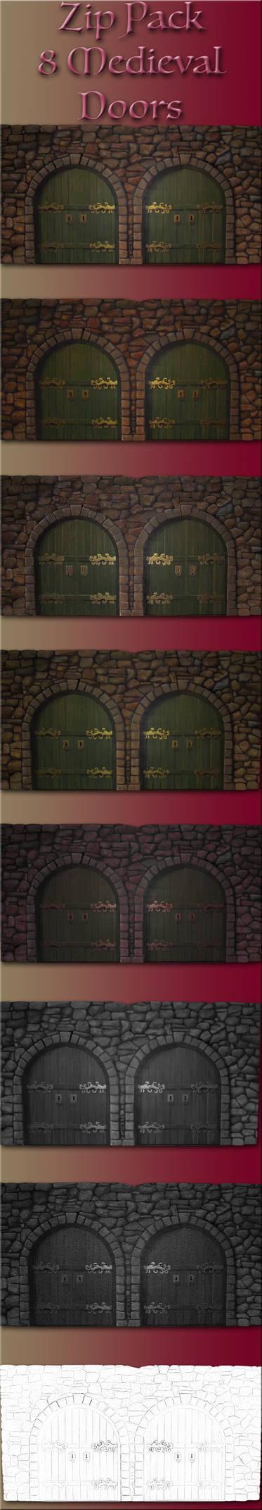 Zip Pack 8 Medieval Doors