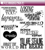 Text Brushes Pack #1 by MissVampQueen