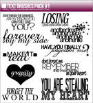 Text Brushes Pack #1
