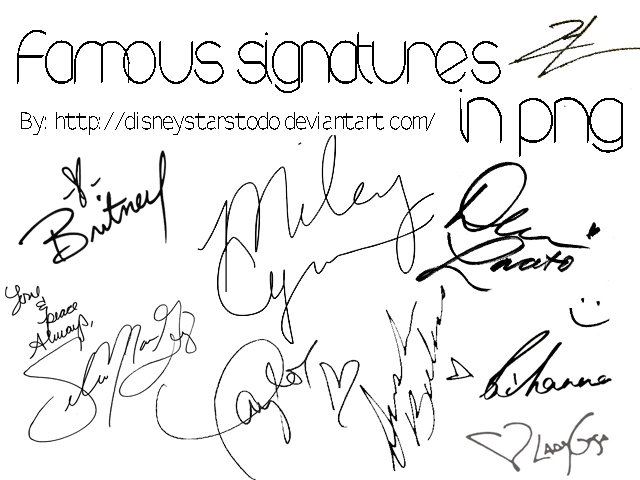Famous signatures in png