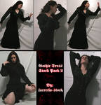 gothic dress stock pack 2