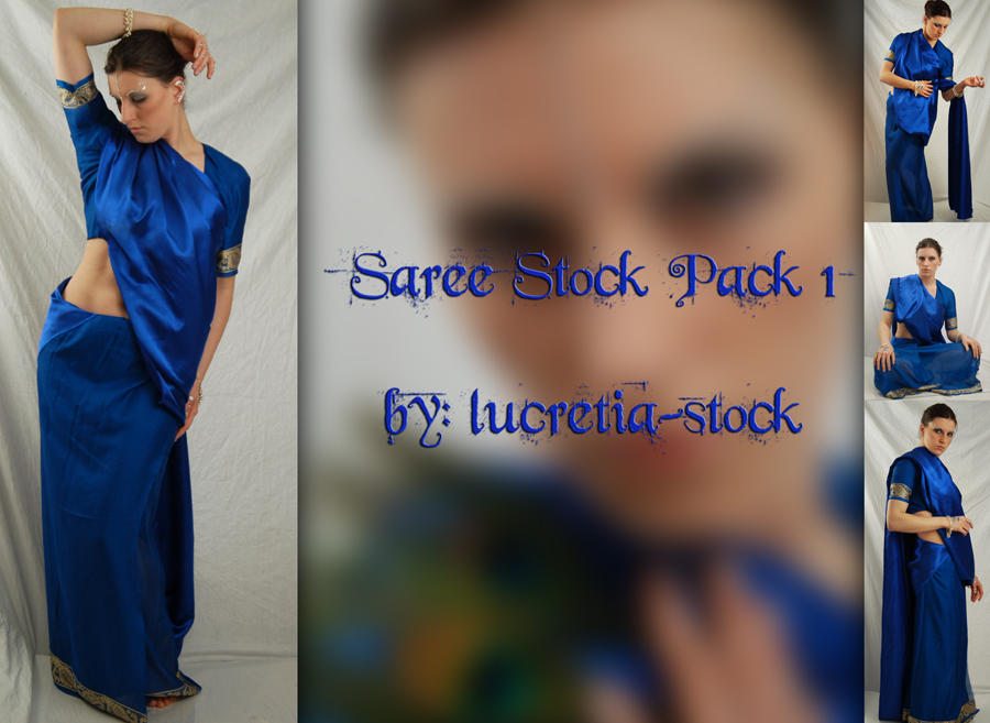 saree stock pack 1 by lucretia-stock
