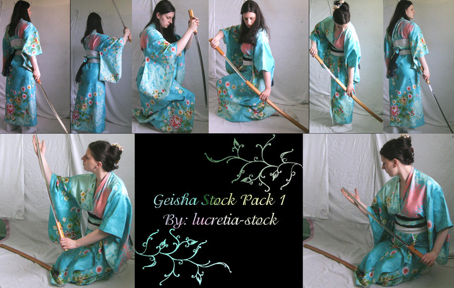 geisha stock pack 1 by lucretia-stock