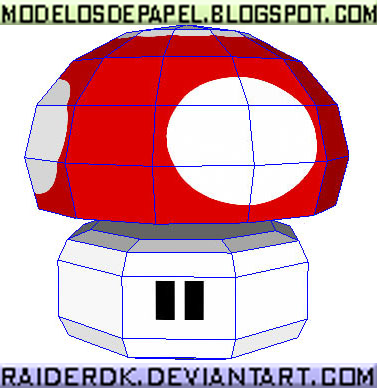 Super Mario Mushroom pattern by RaiderDK