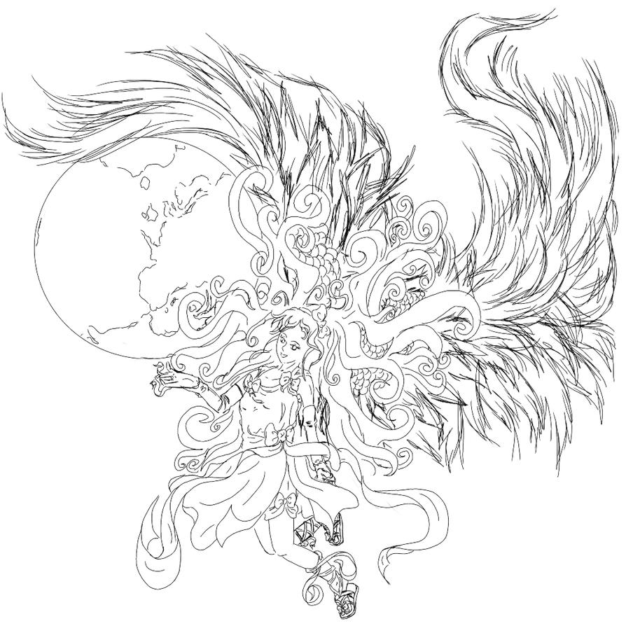 Guardian Angel Line Art | www.imgkid.com - The Image Kid ...