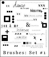 Brush Set #1: Tiny text, x's.. by peculiar-treasure