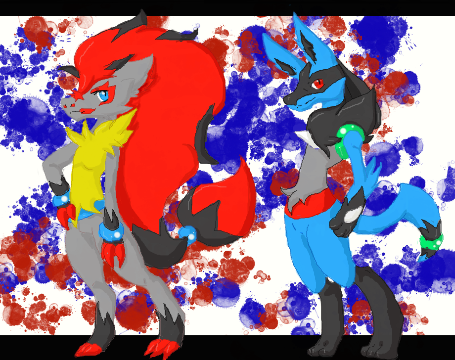 Pokemon Zoroark X Lucario Kissing Images | Pokemon Images