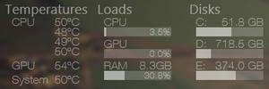 Temps Loads Disks 1.0