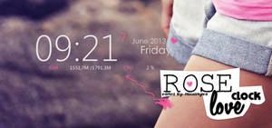 Rose Love Clock