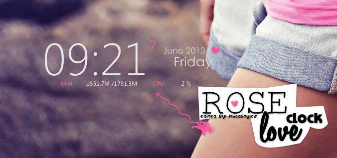 Rose Love Clock by MiikaEditions