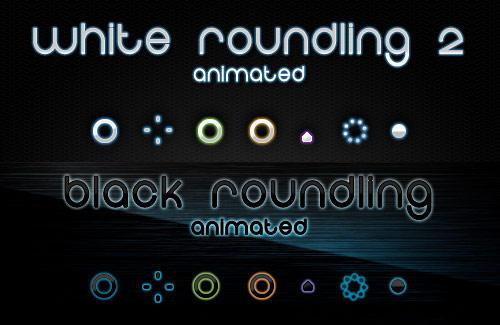 Roundling Cursors - Both B+W by chrislachance