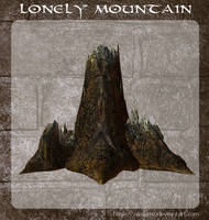 3D Lonely Mountain by zememz