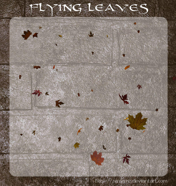 3D Flying Leaves by zememz